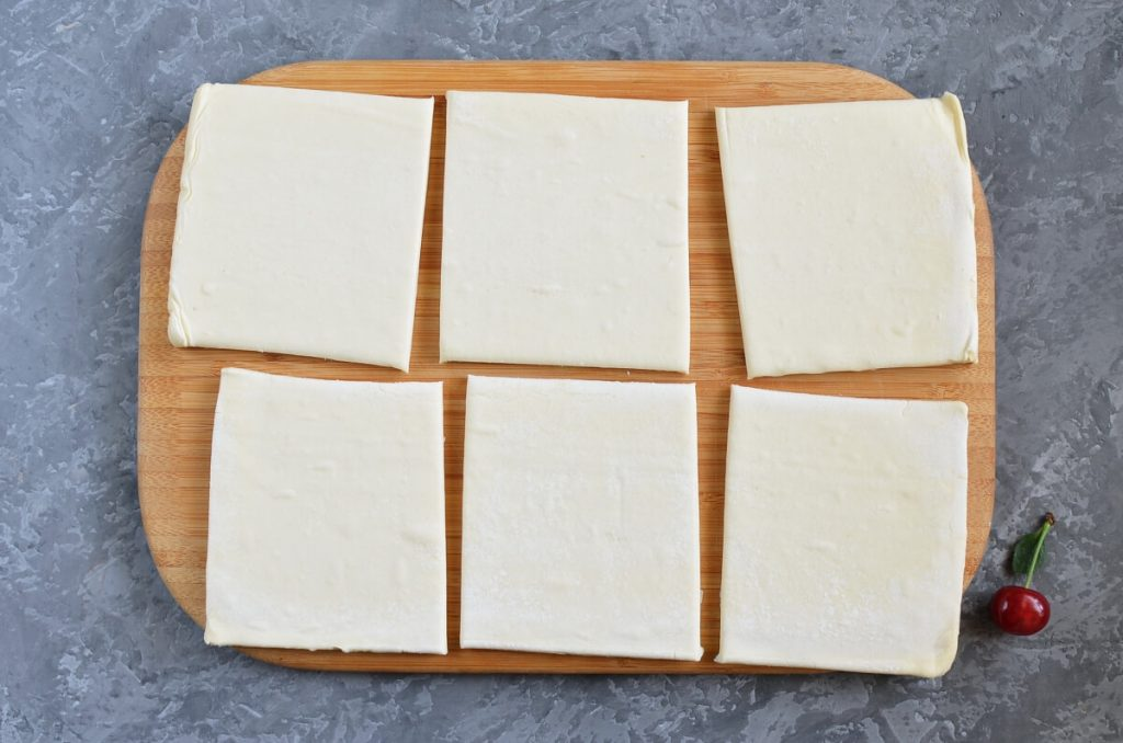 Easy Cherry Turnovers with Puff Pastry recipe - step 1