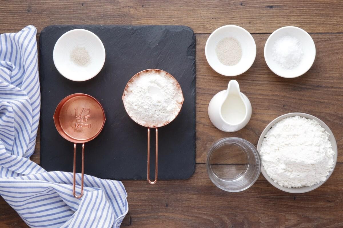 Ingridiens for Easy Homemade Ciabatta Bread