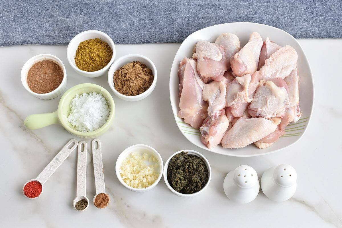 Ingridiens for Fabulously Flavorful Geera Chicken