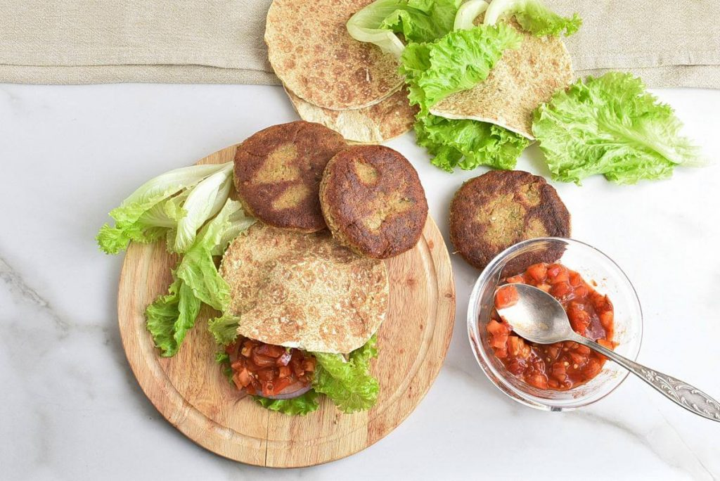 How to serve Vegan Falafel Burgers