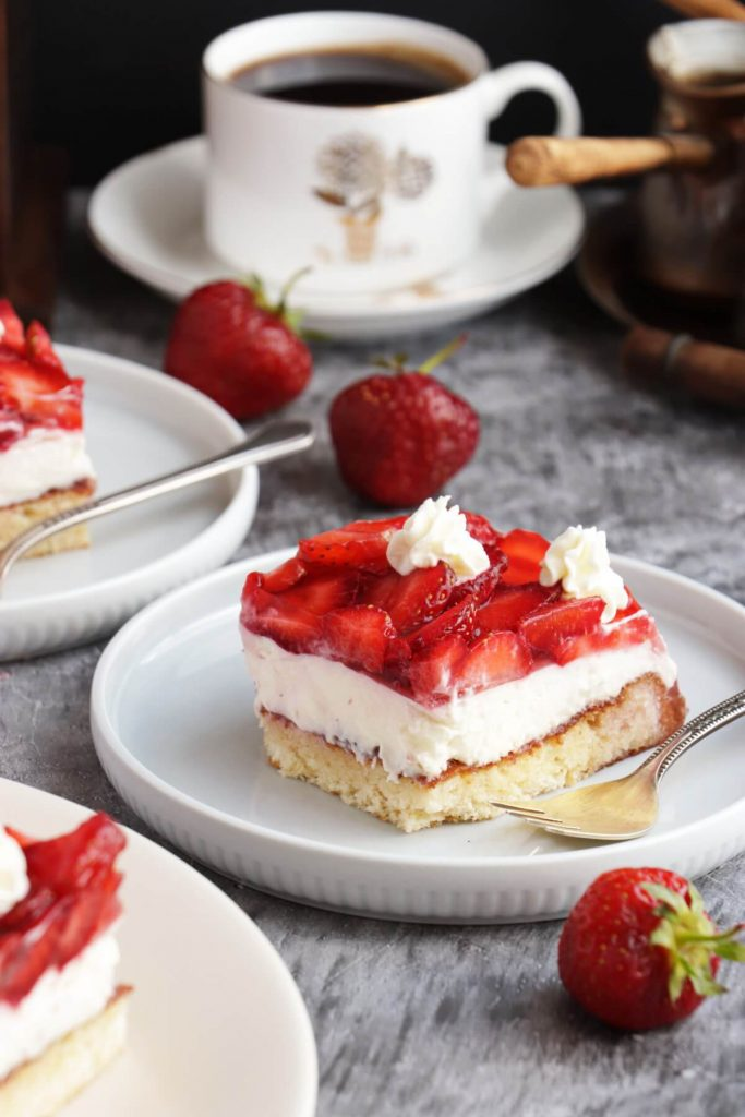 Delicious chilled summer cake