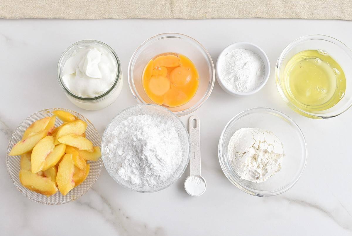 Ingridiens for Fruity Sponge Cake