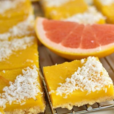 Grapefruit Coconut Bars Recipes–Homemade Grapefruit Coconut Bars–Easy Grapefruit Coconut Bars