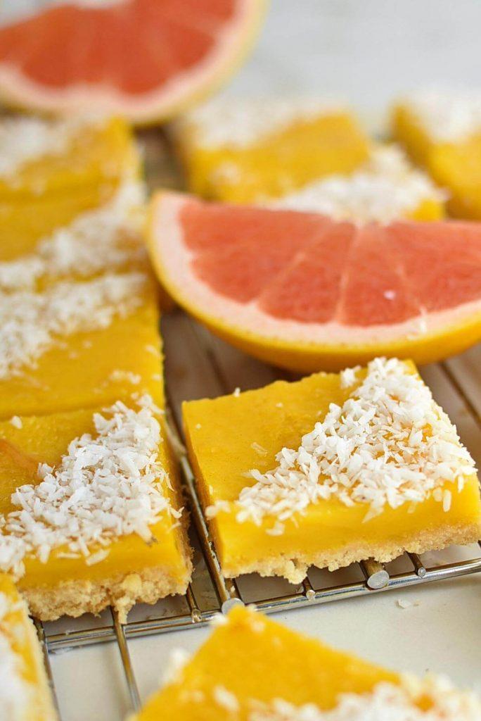 Zingy tropical citrus bars
