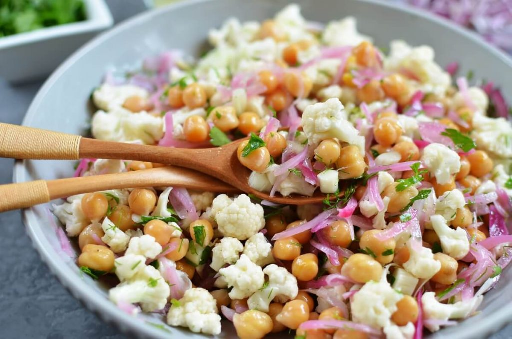 How to serve Herby Cauliflower Salad with Chickpeas
