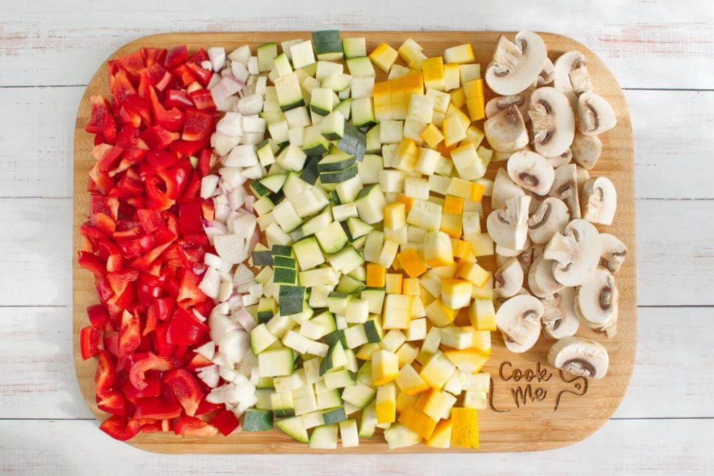 Ingridiens for Italian Oven-Roasted Vegetables