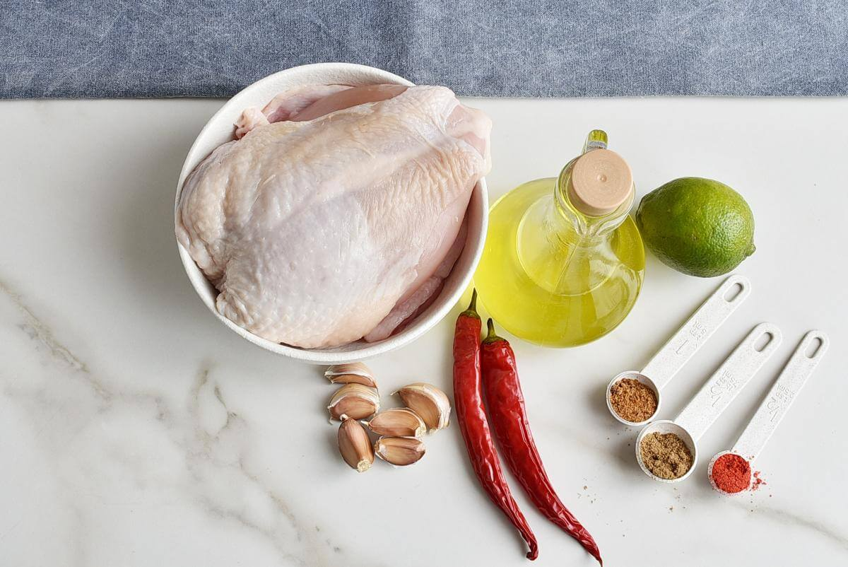 Ingridiens for Mexican Lime Chicken