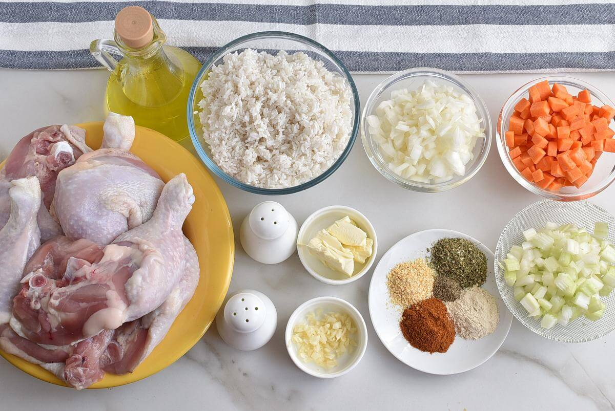Mom's Roasted Chicken and Rice Recipes–Homemade Mom's Roasted Chicken and Rice–Easy Mom's Roasted Chicken and Rice