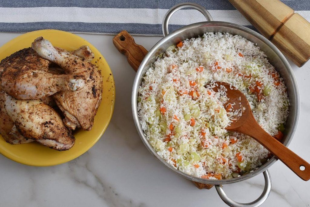 Mom's Roasted Chicken and Rice recipe - step 5