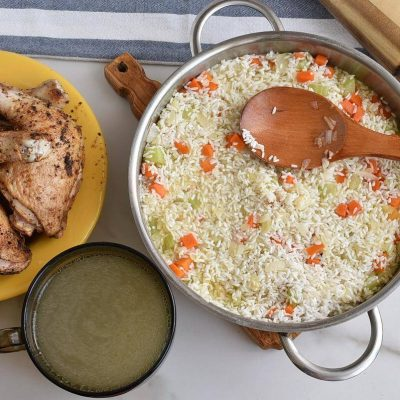 Mom's Roasted Chicken and Rice recipe - step 6