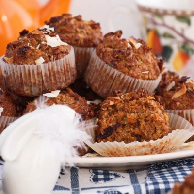 Morning Glory Muffins Recipe-Healthy Morning Glory Muffins-Carrot Cake Muffins