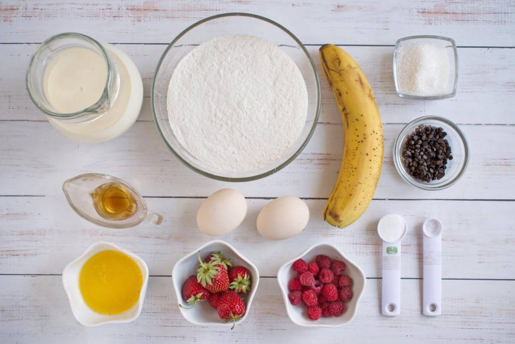 Ingridiens for On-The-Go Pancake Muffins