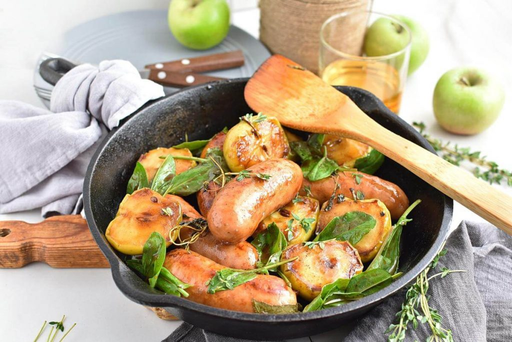Pan Seared Sausages And Apples Recipes–Homemade Pan Seared Sausages And Apples–Easy Pan Seared Sausages And Apples