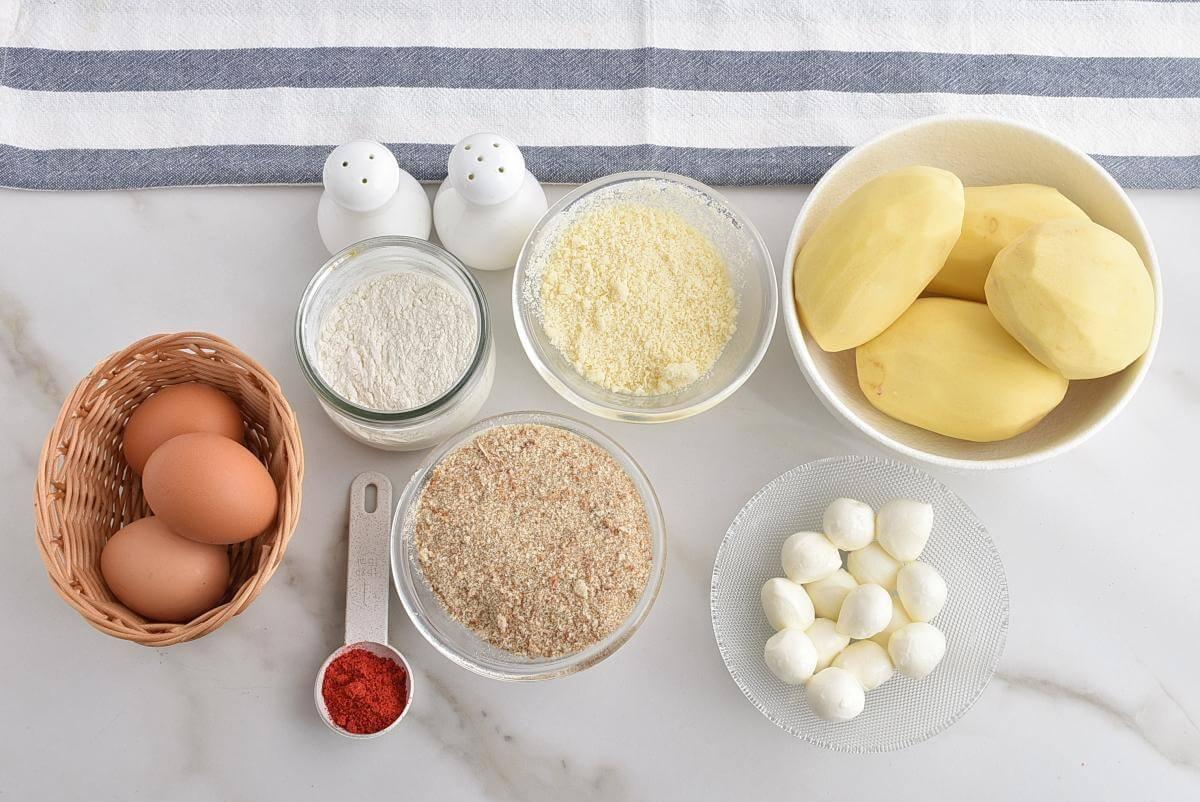 Ingridiens for Potato Cheese Balls