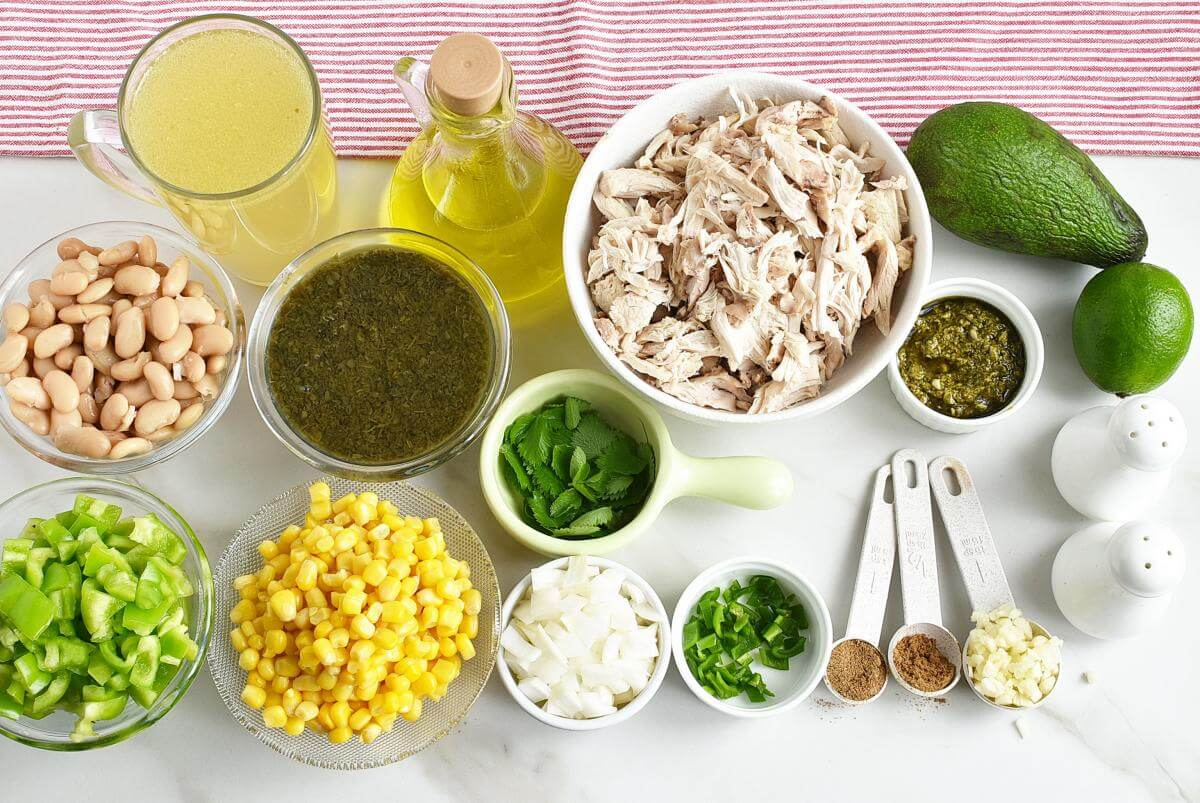 Ingridiens for Quick and Easy Green Chicken Chili
