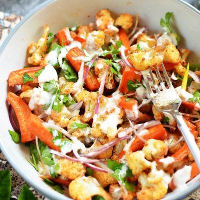 Roasted Cauliflower Salad Recipe-How To Make Roasted Cauliflower Salad-Delicious Roasted Cauliflower Salad