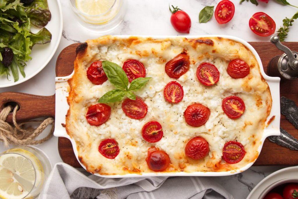 Roasted Vegetable Lasagne Recipe-Veggie Lasagna-No Meat Lasagna