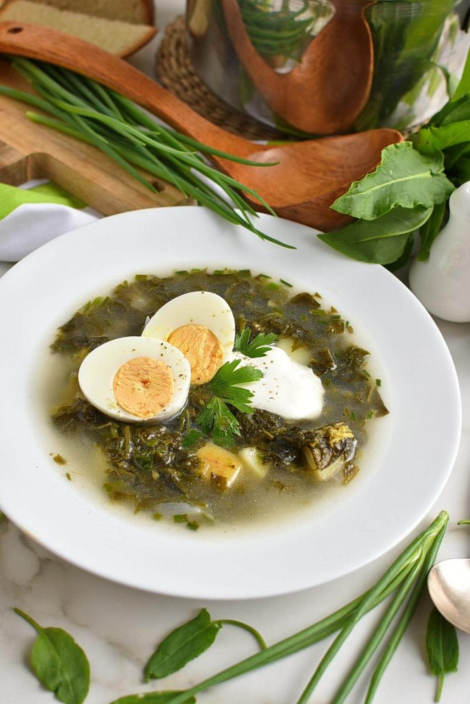 Summer Soup with Eggs and Herbs