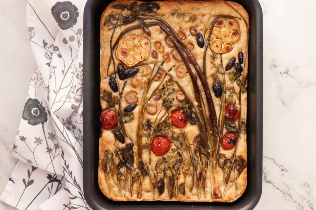Sourdough Focaccia with Floral Art recipe - step 10