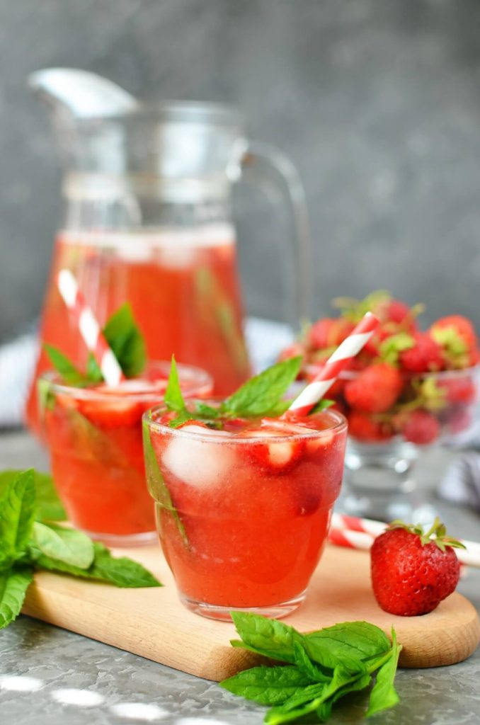 Delicious cold summer drink
