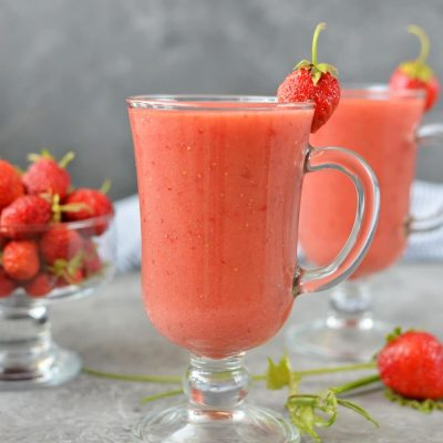 Strawberry smoothie Recipe-How To Make Strawberry smoothie-Homemade Strawberry smoothie