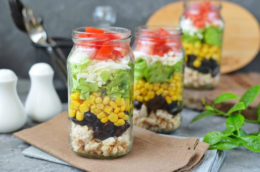 How to serve Taco Salad in a Jar