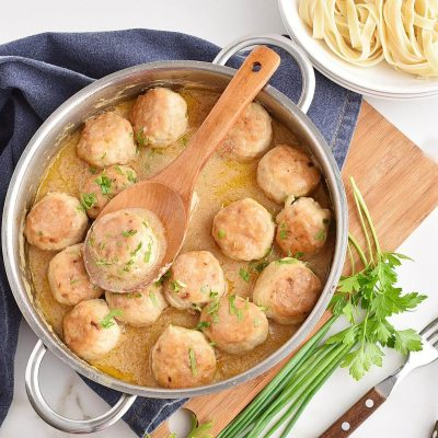 Tefteli - Chicken Meatballs in a Cream Sauce Recipes–Homemade Tefteli - Chicken Meatballs in a Cream Sauce–Easy Tefteli - Chicken Meatballs in a Cream Sauce
