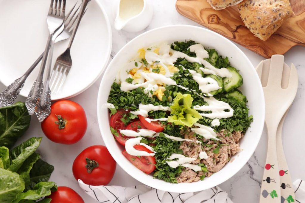 How to serve Healthy Tuna Cobb Salad