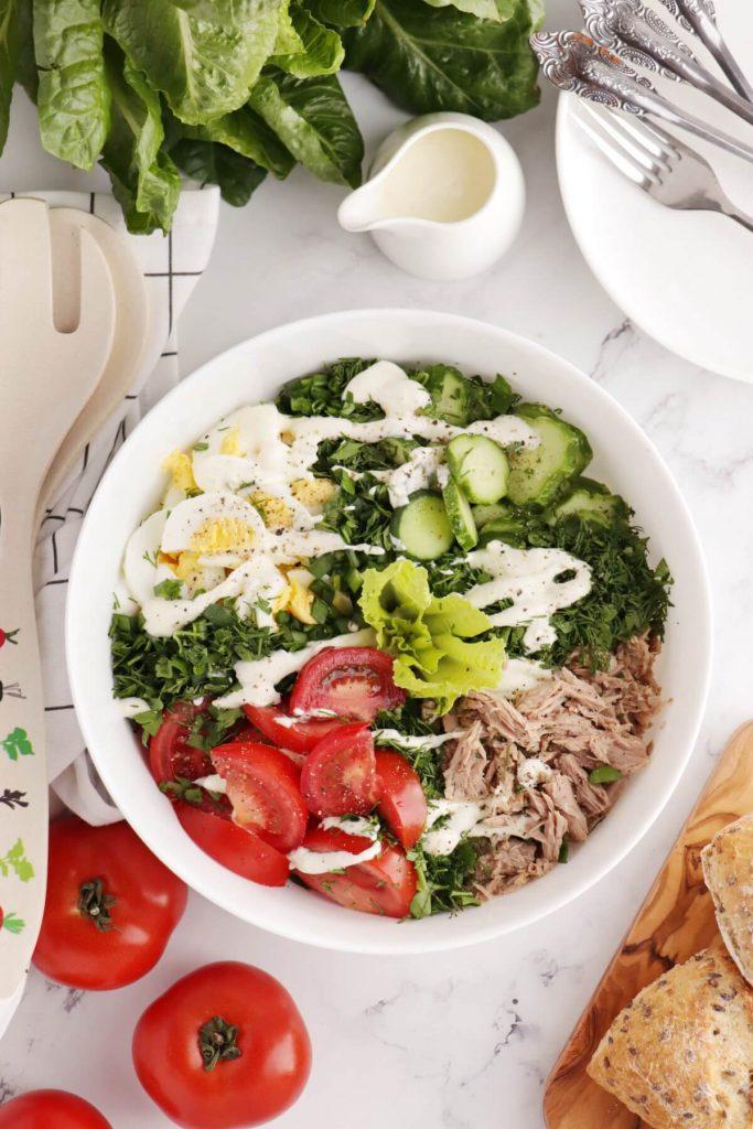 Healthy Tuna Cobb Salad