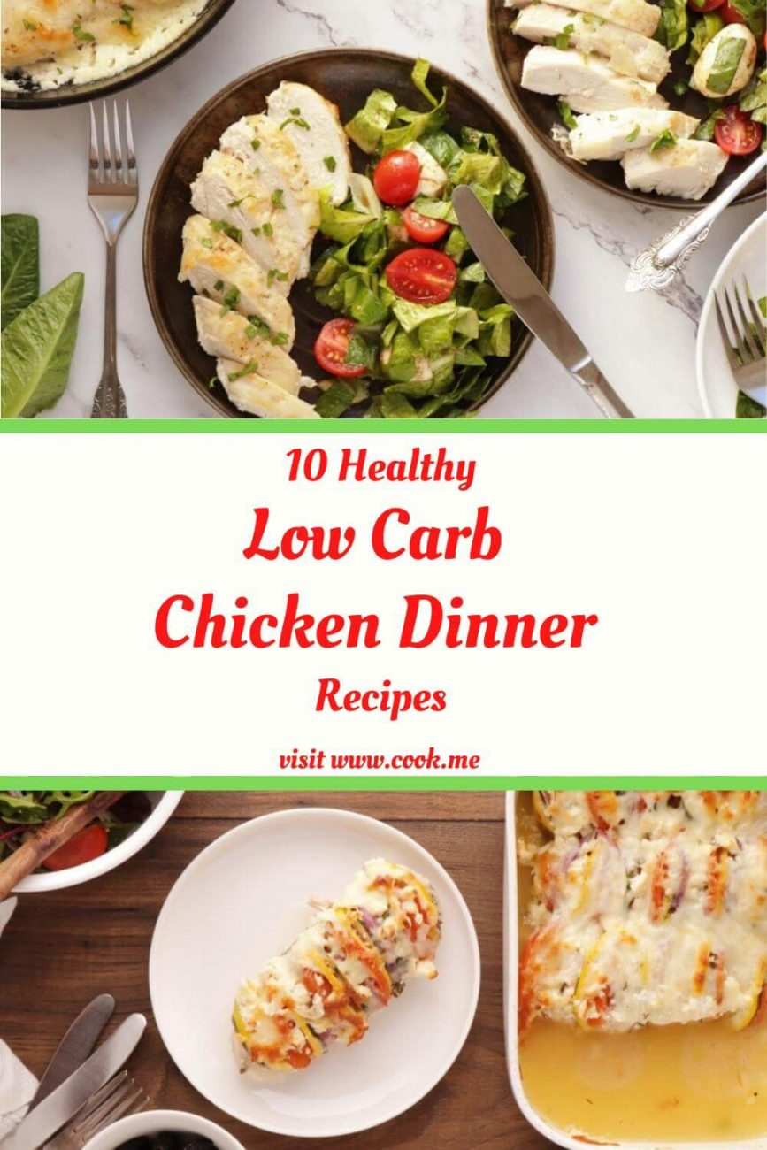 10 TOP Low Carb Chicken Dinner Recipes - Best Keto Chicken Recipes - Low-Carb Chicken Recipes That Aren't Boring