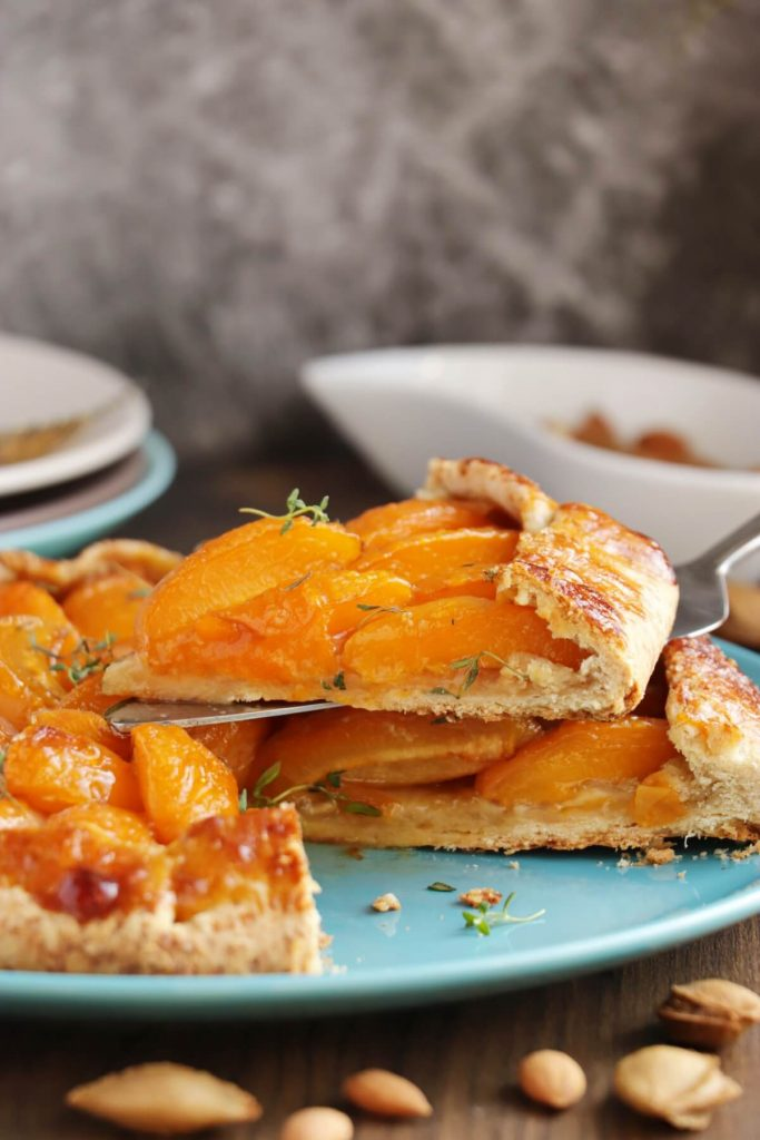 Apricot-Thyme Galette Recipe-Apricot Thyme Galette with Almond Flour-Quick Apricot Galette
