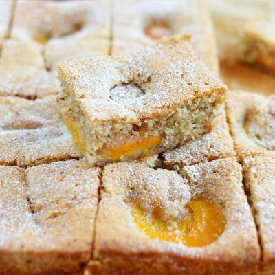 Apricot and Almond Traybake Recipe-How To Make Apricot and Almond Traybake-Homemade Apricot and Almond Traybake