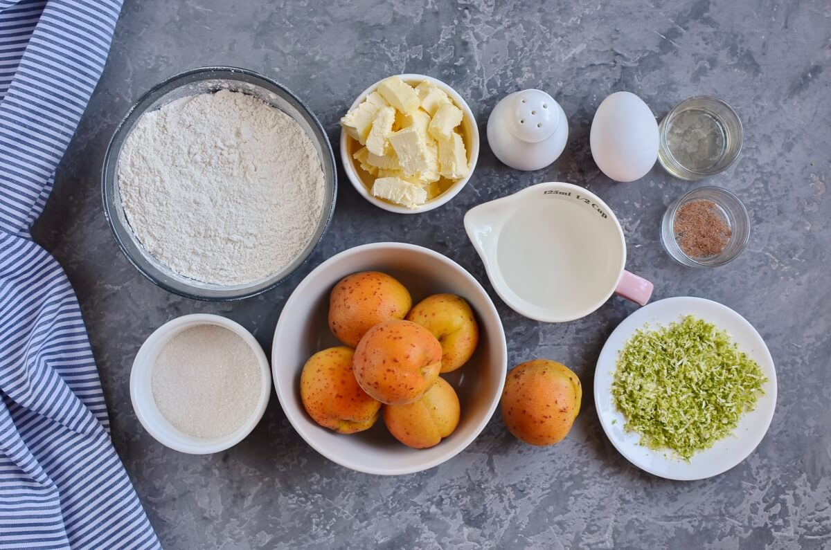 Ingridiens for Apricot and Lime Galette