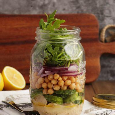 Arugula & Tuna Jar Salad Recipe-Weekday Lunch Tuna Arugula Jar Salad-Quick Summer Tuna Salad
