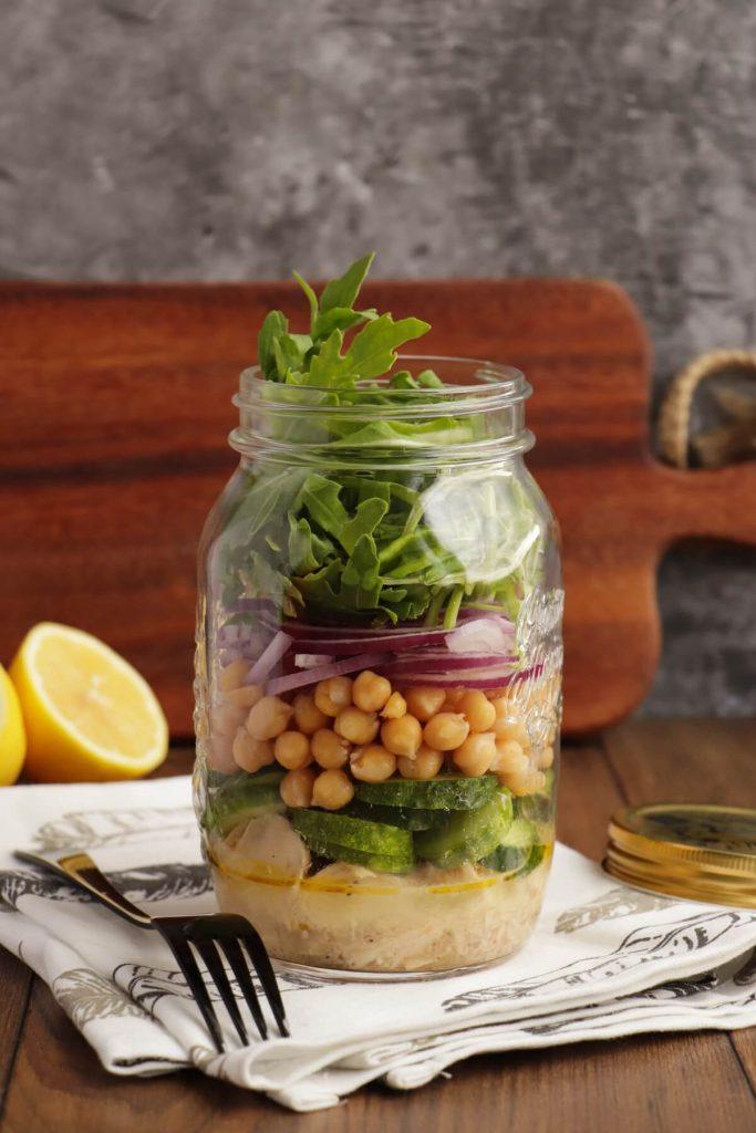 Arugula & Tuna Jar Salad