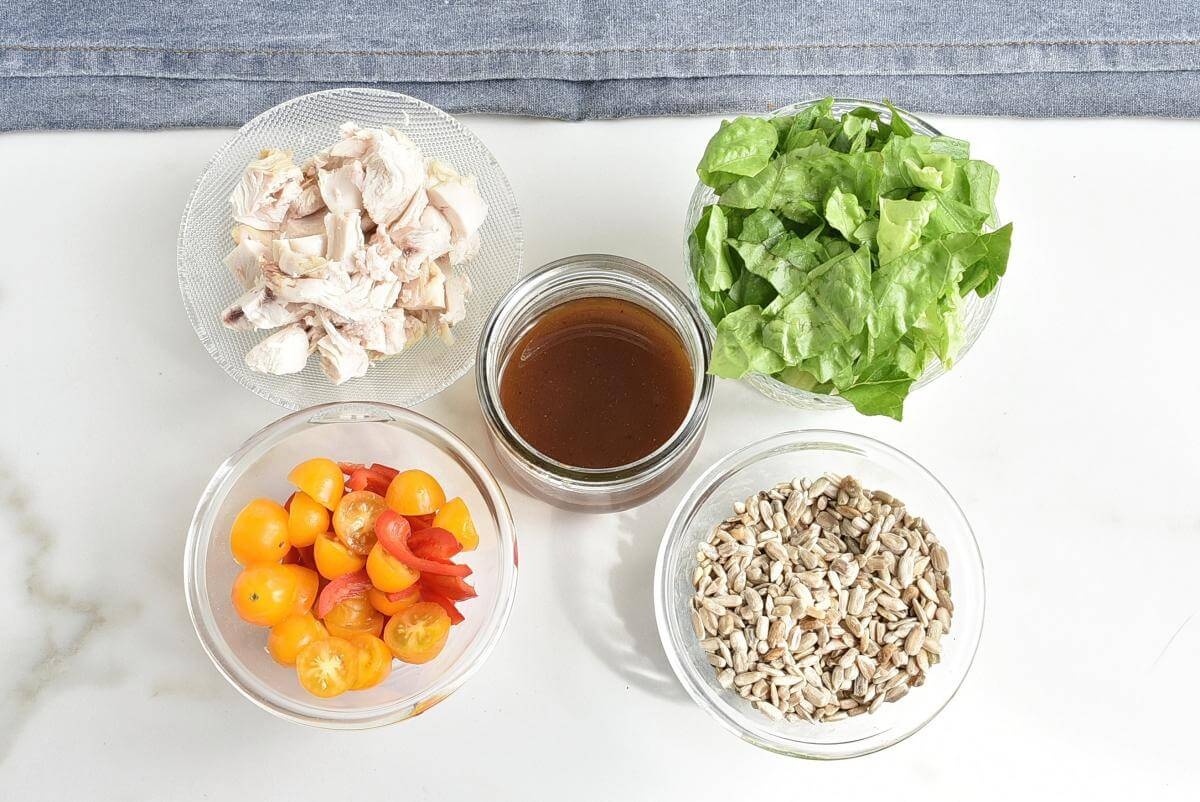 Ingridiens for Basic Mason Jar Salad
