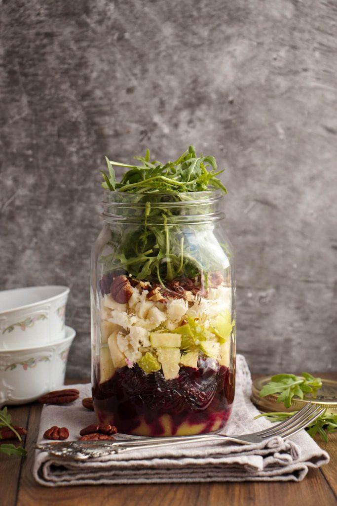 Beet & Goat Cheese Jar Salad