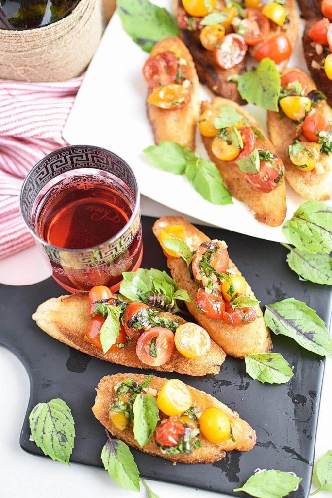 Bruschetta with Grape Tomatoes