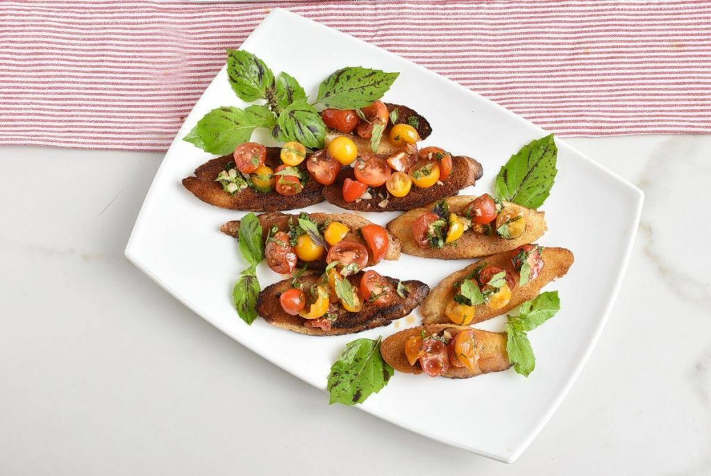 How to serve Bruschetta with Grape Tomatoes