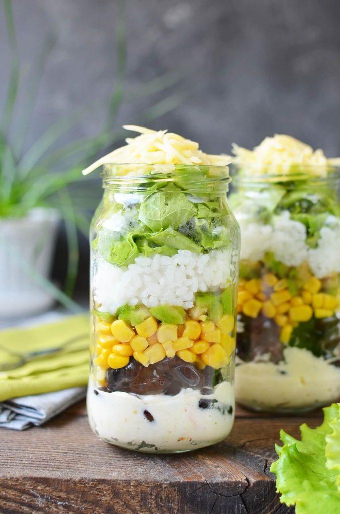 "Burrito ""Bowl"" Jar Salad"
