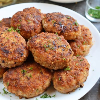 Chicken and Beef Croquettes (Pozharsky Kotleti) Recipe-How To Make Chicken and Beef Croquettes (Pozharsky Kotleti)-Homemade Chicken and Beef Croquettes (Pozharsky Kotleti)