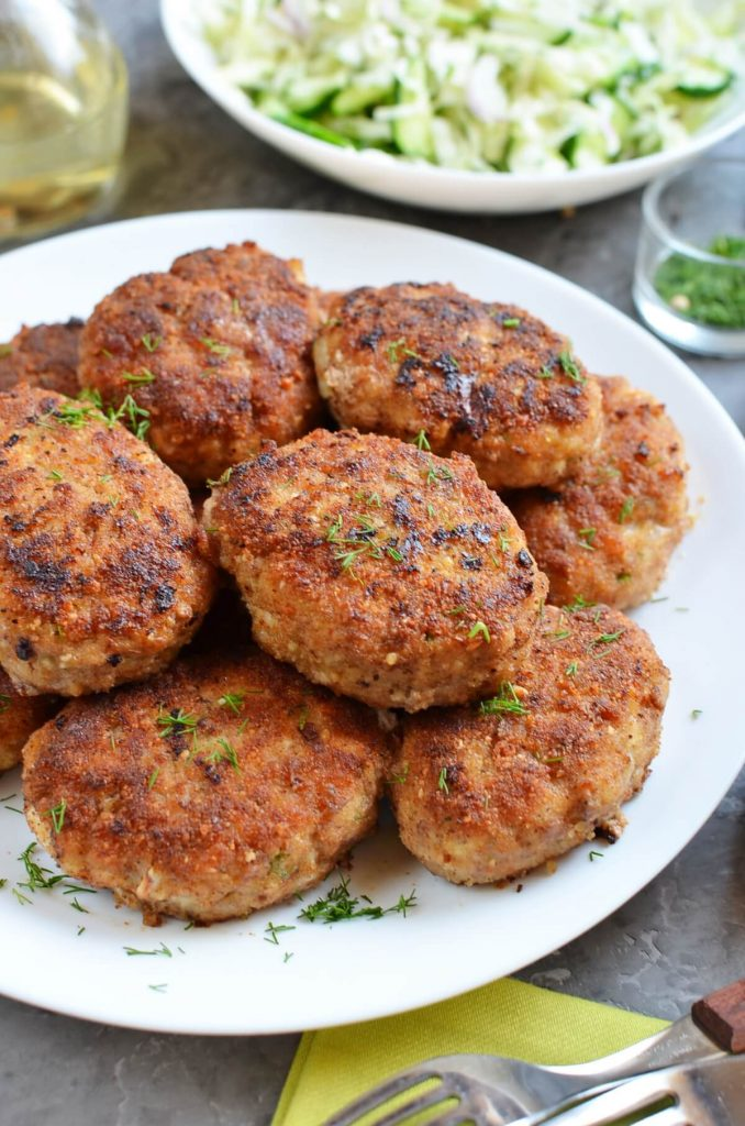 Chicken Beef Croquettes (Pozharsky Kotleti)