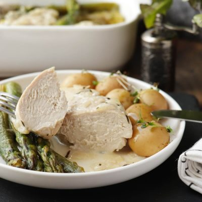 Creamy Chicken with Asparagus & Tarragon Recipe-Chicken with Asparagus-Quick and Easy Chicken Breast