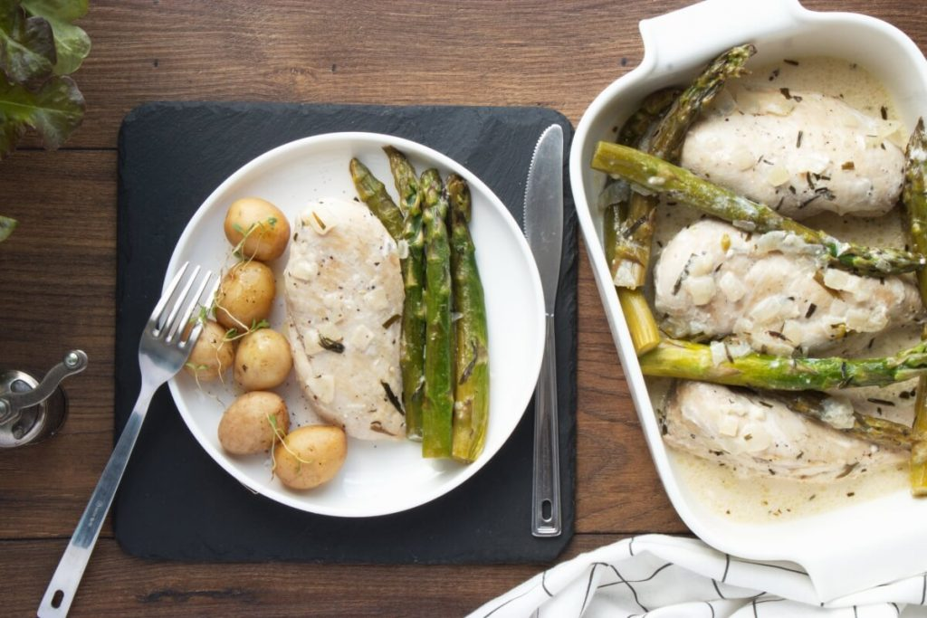 How to serve Creamy Chicken with Asparagus & Tarragon