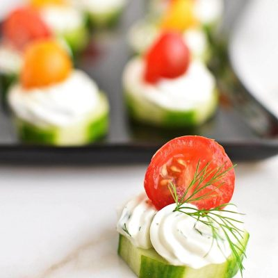 DILLY CUCUMBER BITES Recipe–Homemade DILLY CUCUMBER BITES–Easy DILLY CUCUMBER BITES