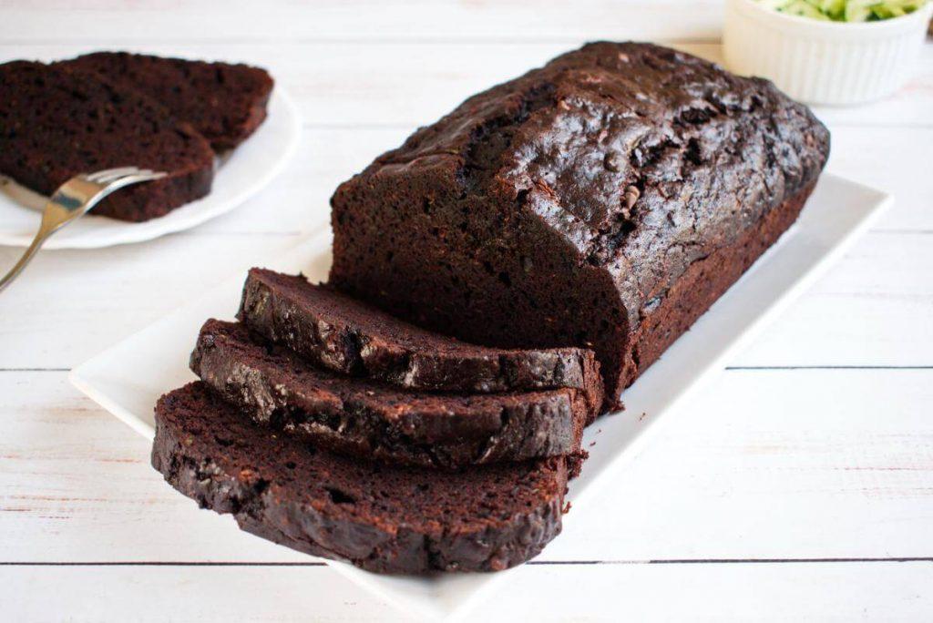 Double Chocolate Zucchini Bread - Chocolate Zucchini Bread Recipe - How to make Double Chocolate Zucchini Bread
