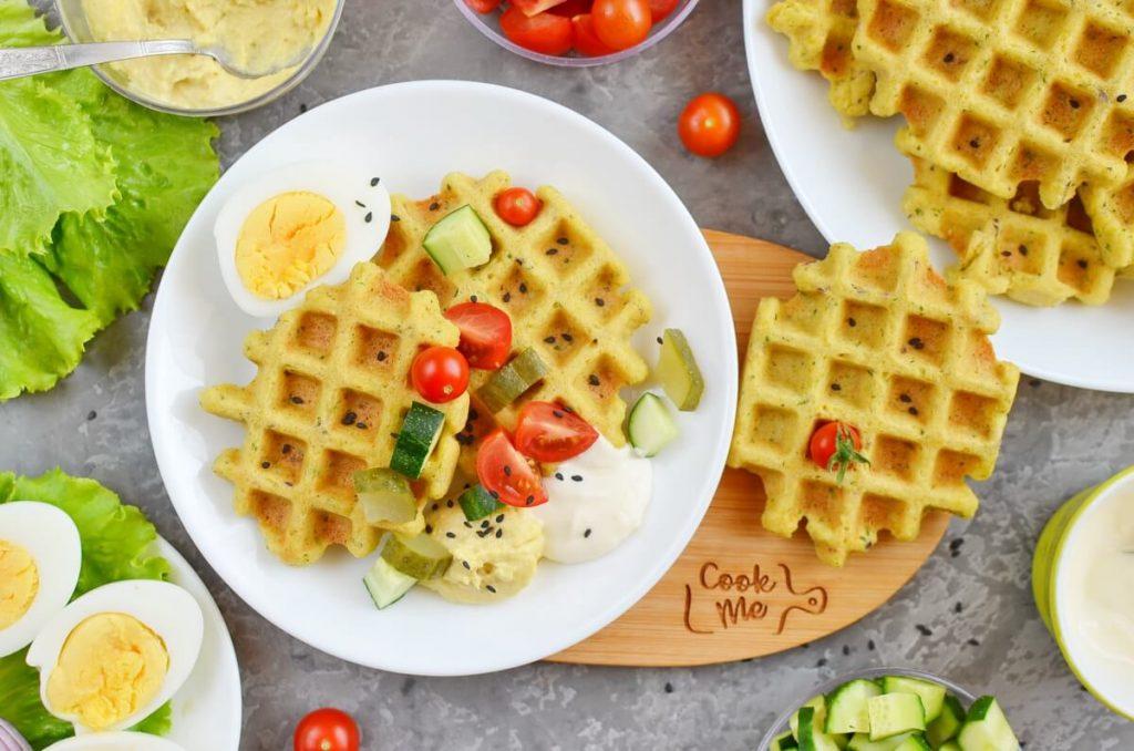 Falafel Waffle Recipe-How To Make Falafel Waffle-Homemade Falafel Waffle