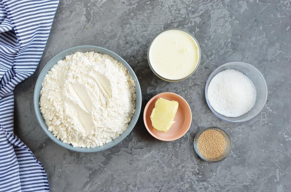 Ingridiens for Fluffy Japanese Milk Bread