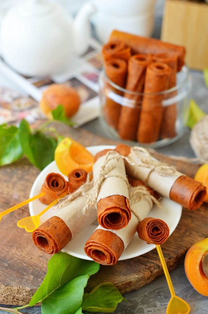 Apricot, Dried Fruit Roll Up
