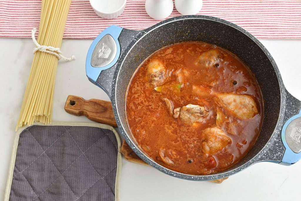 Greek Corfu Chicken and Bucatini recipe - step 5